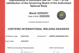 International Welding Engineer - Marek Szwarc